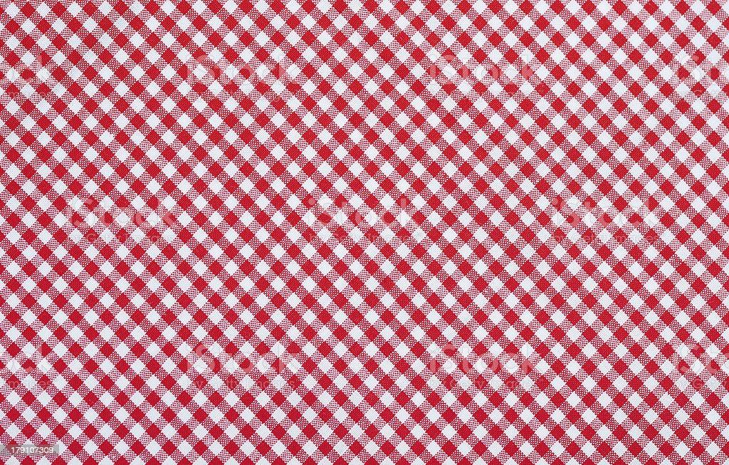 red checkered fabric stock photo