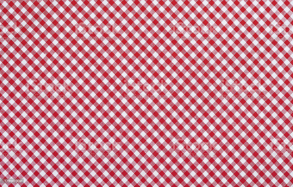 red checkered fabric stock photo