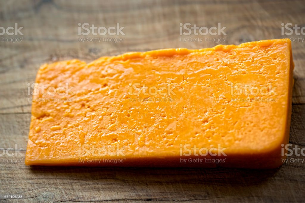 Red cheddar stock photo