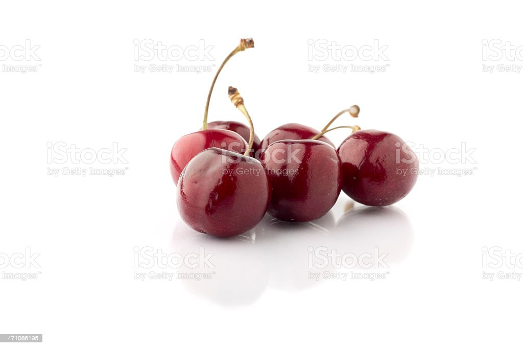Red Cherries on White royalty-free stock photo