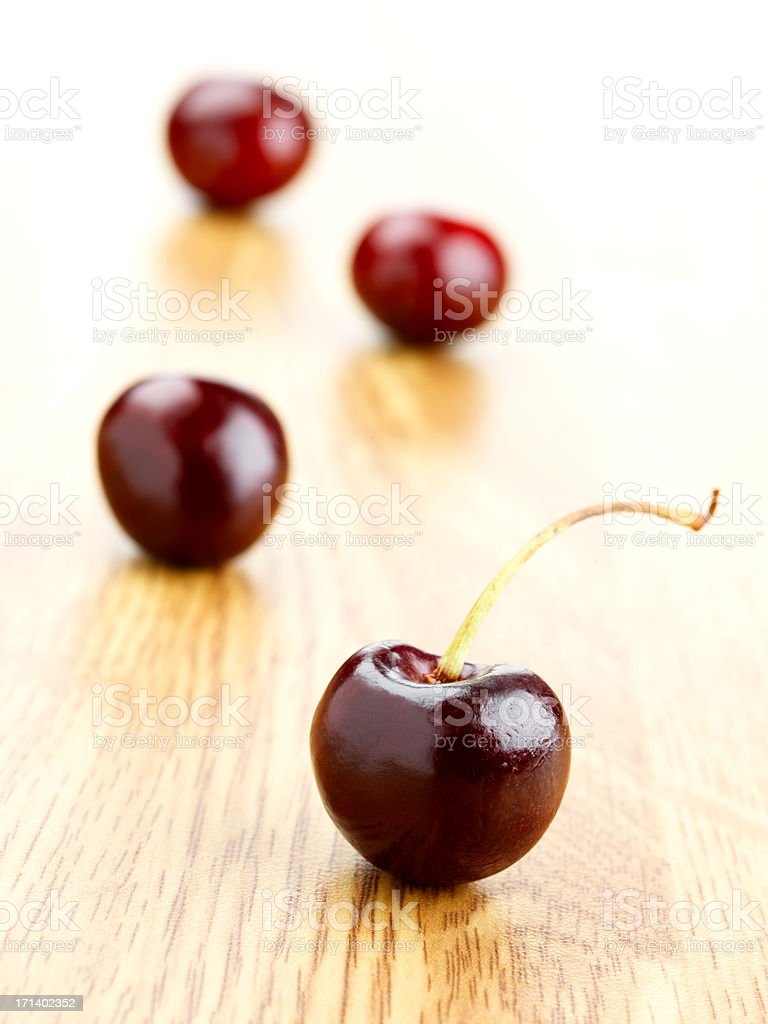 Red cherries royalty-free stock photo