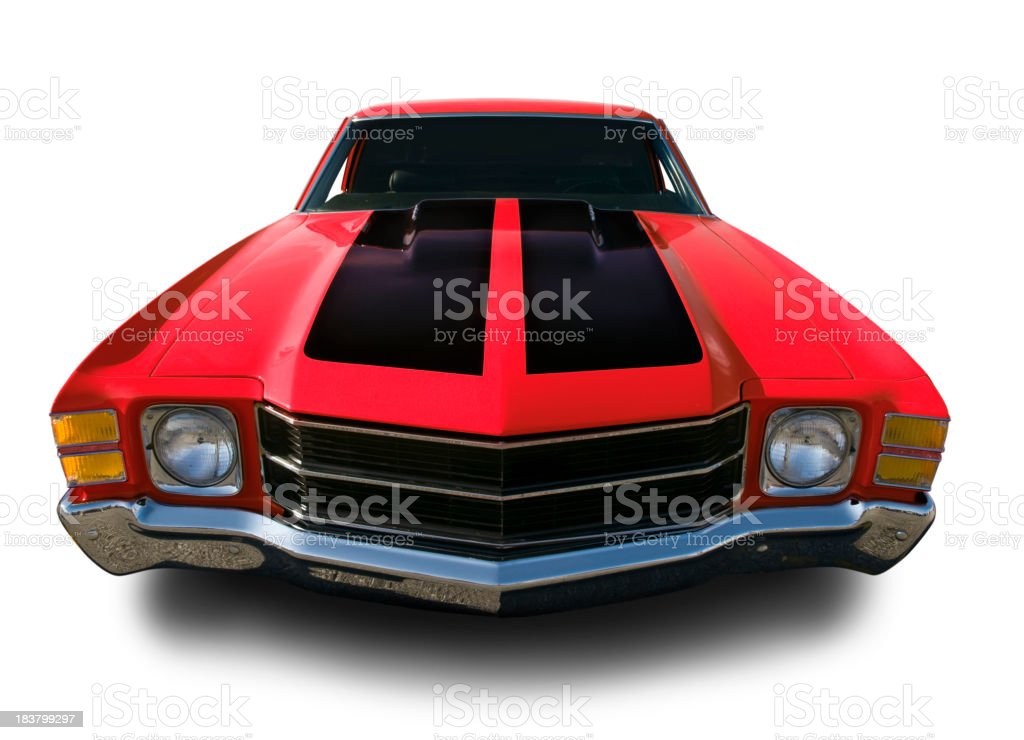 Red Chevrolet Chevelle Muscle Car stock photo