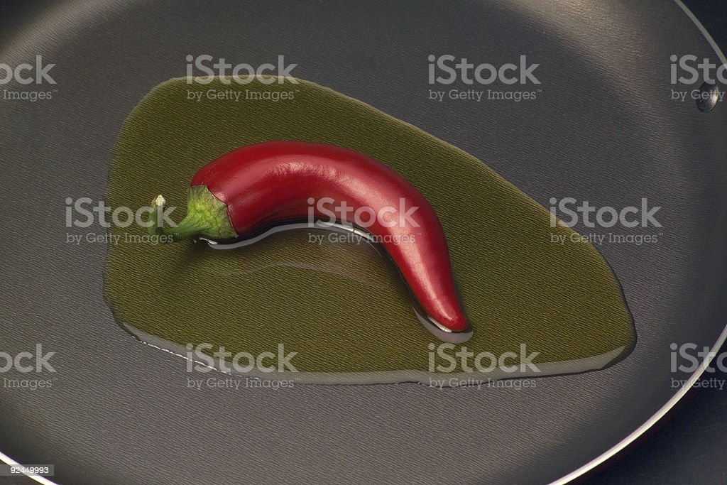 Red chile in oil royalty-free stock photo