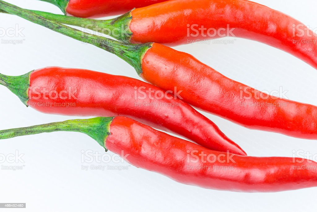 Red chili  isolated on white background royalty-free stock photo