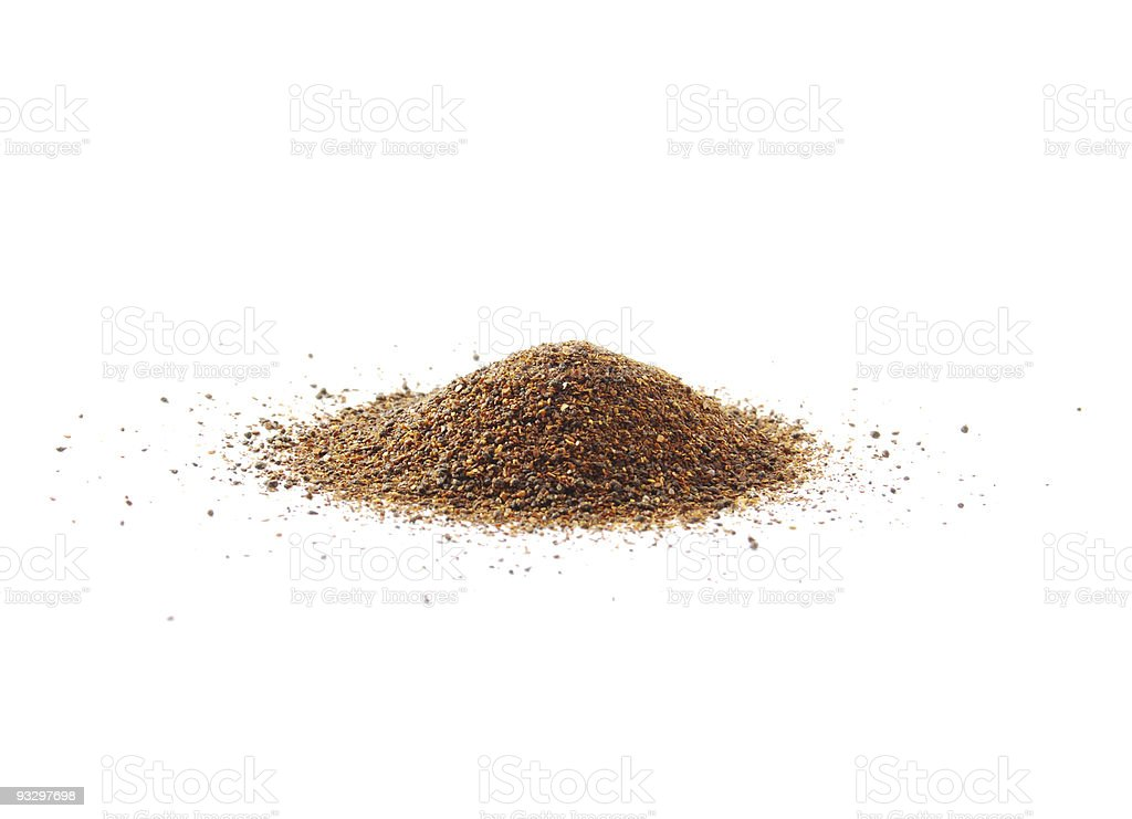 Red Chili Pepper Powder Heap stock photo