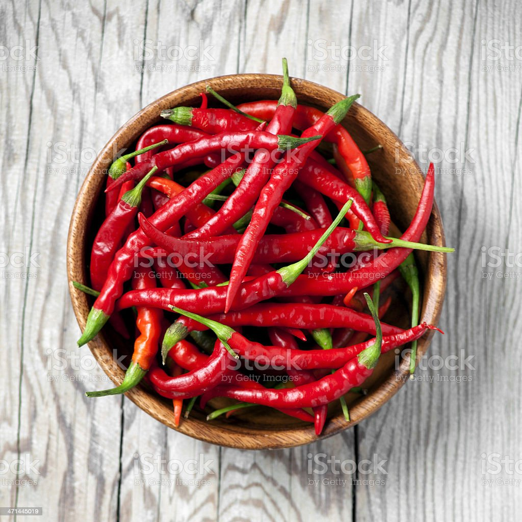 Red chili peppers stock photo