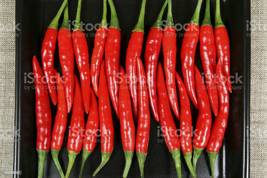 Red chilli peppers. royalty-free stock photo