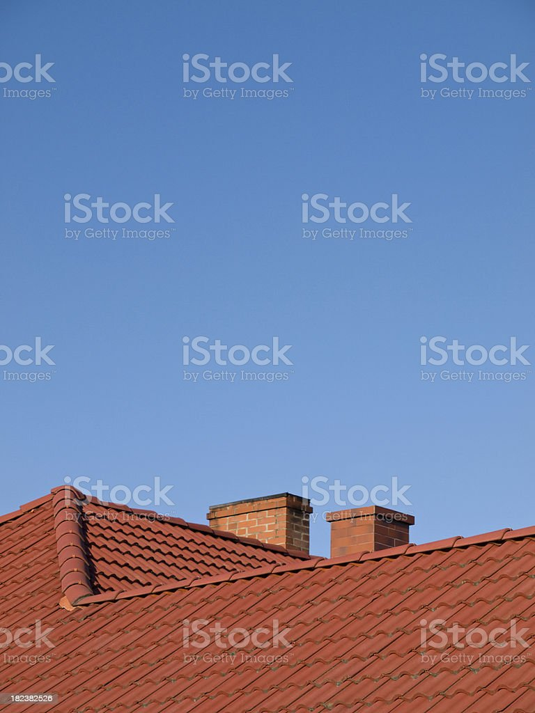 red chimneys royalty-free stock photo