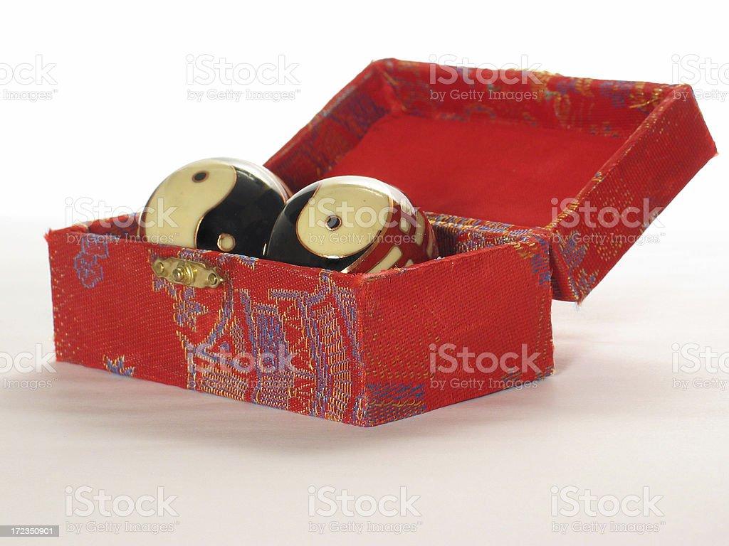 Red chinese box stock photo