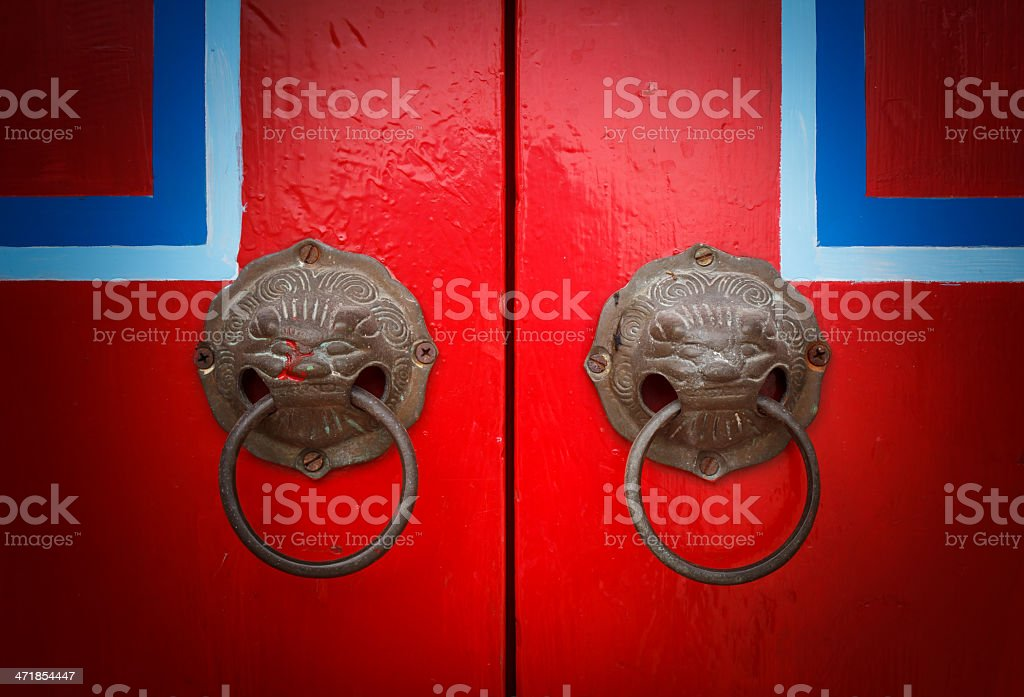 Red chinese door royalty-free stock photo