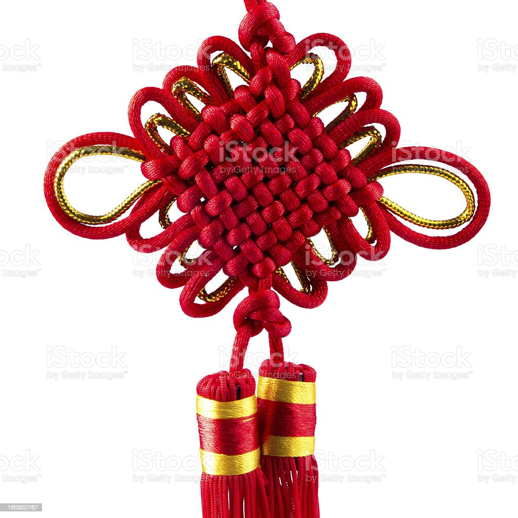 Red Chinese knot stock photo