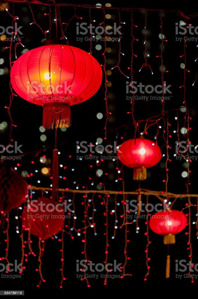 Red Chinese Lantern stock photo