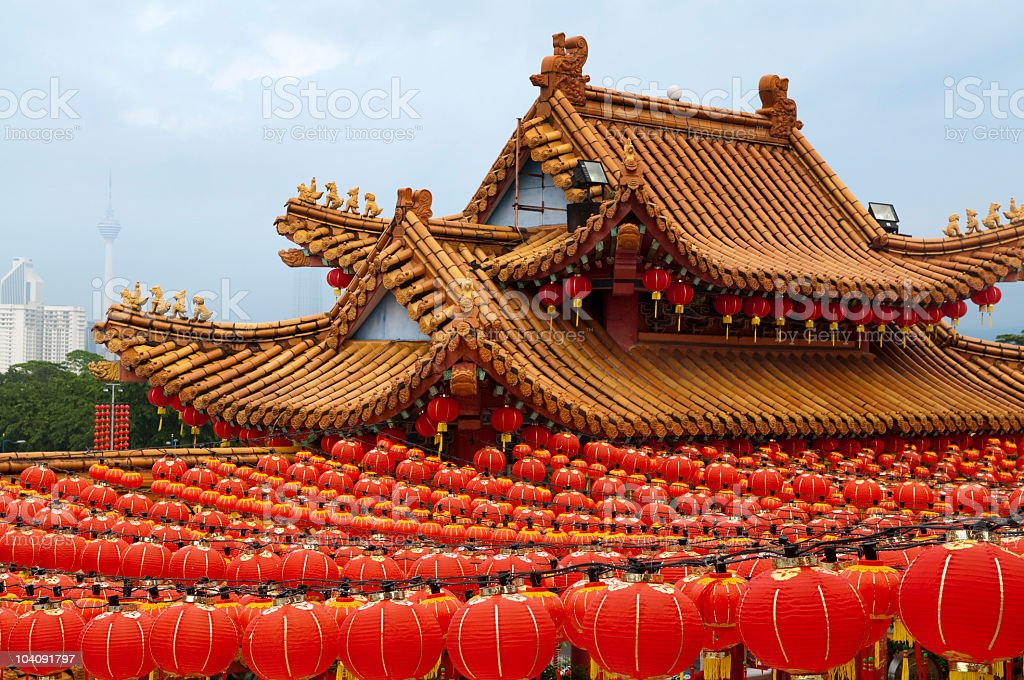 Red Chinese lanterns royalty-free stock photo