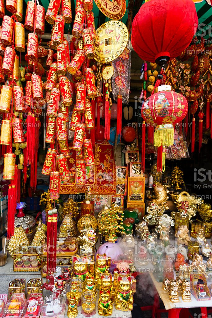 Red Chinese New Year Decoration Tet stock photo