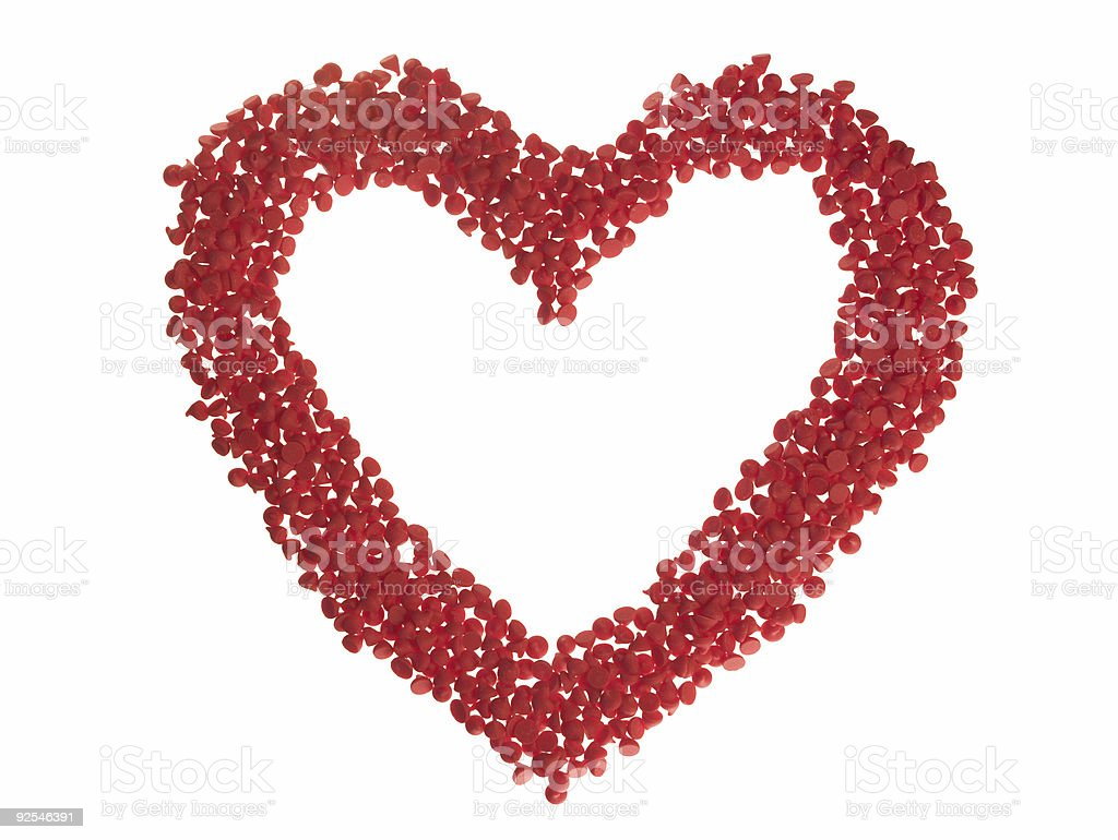Red Chip Heart royalty-free stock photo