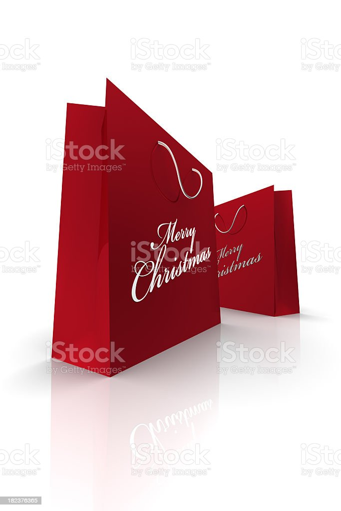 Red Christmas Bags (XXXL) royalty-free stock photo