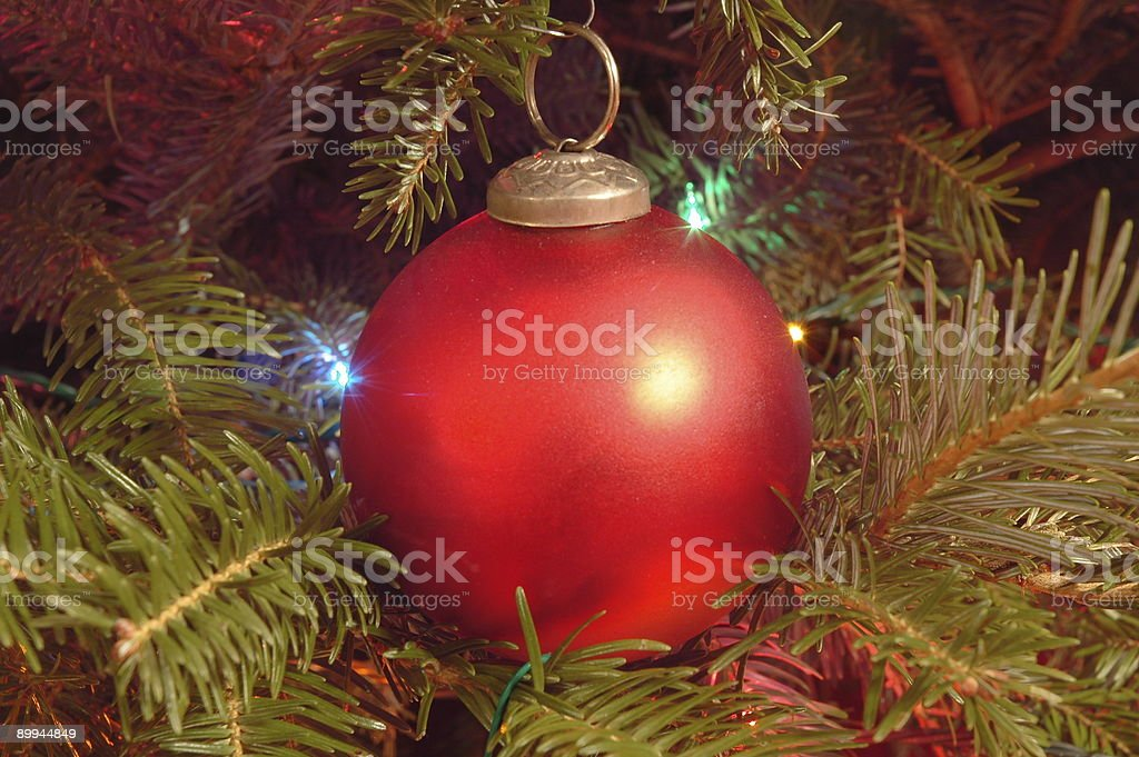 Red Christmas Ball Ornament royalty-free stock photo