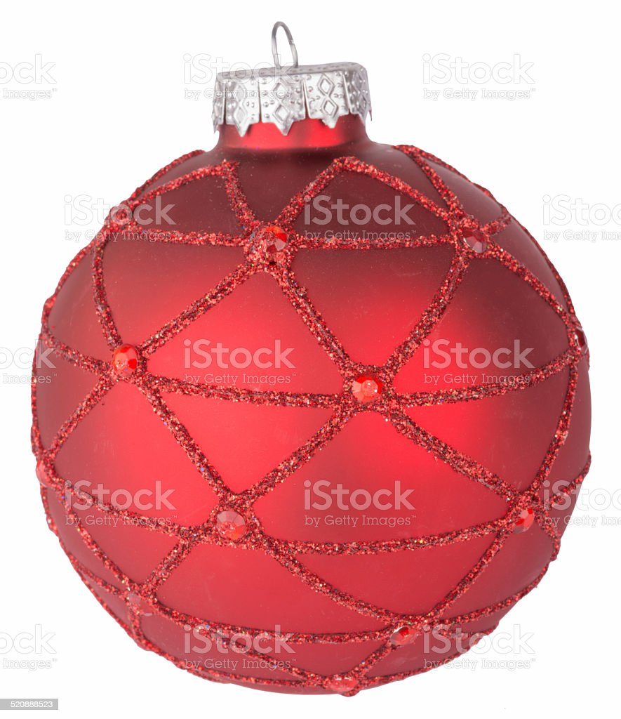 Red Christmas ball stock photo