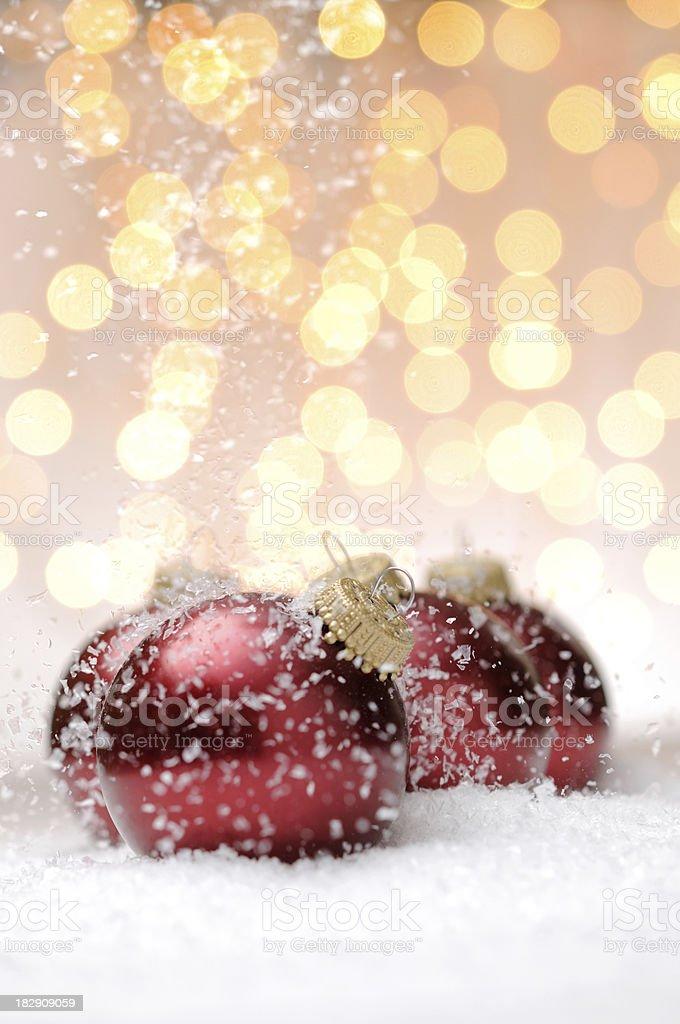 Red christmas balls royalty-free stock photo