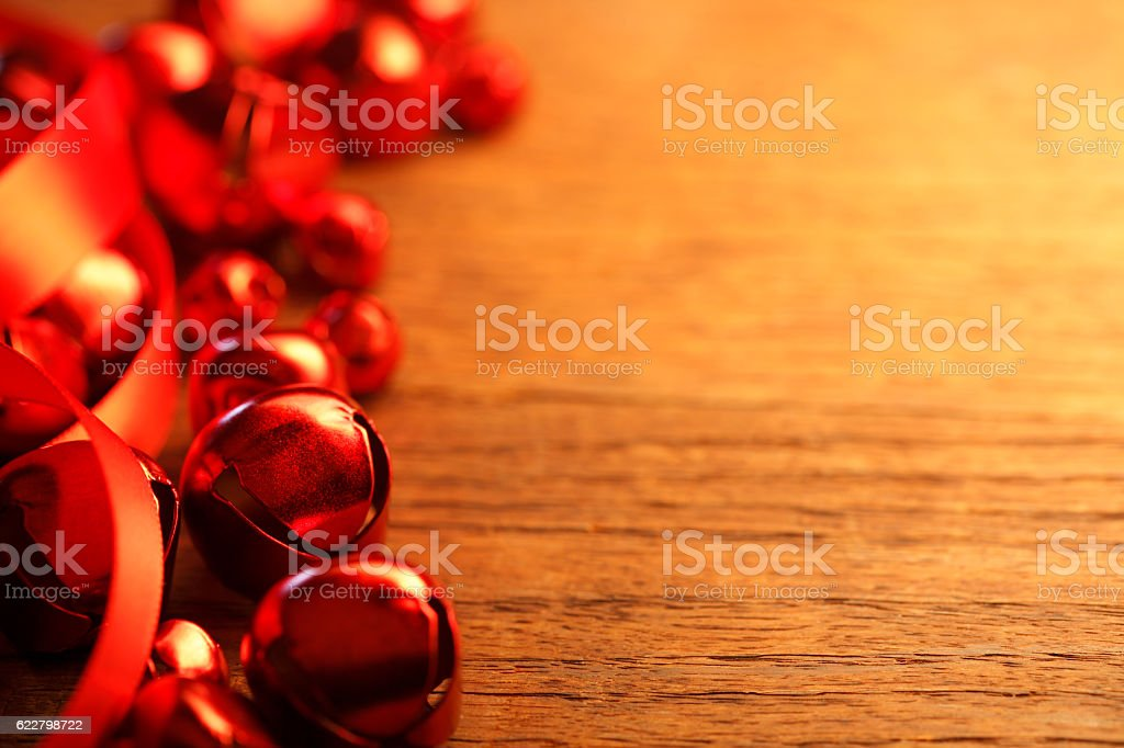 Red Christmas Bells stock photo