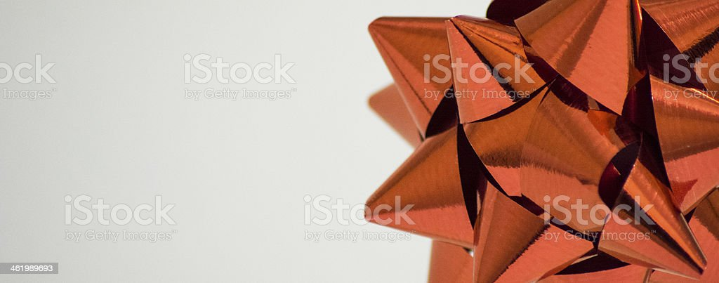 Red Christmas Bow stock photo