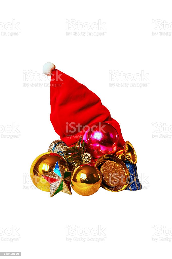 red Christmas cap royalty-free stock photo