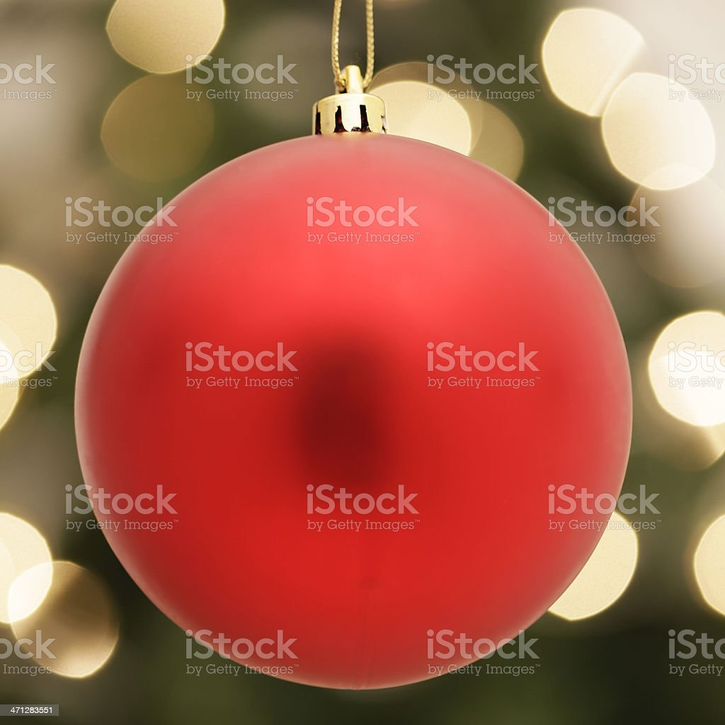 Red Christmas Decoration royalty-free stock photo