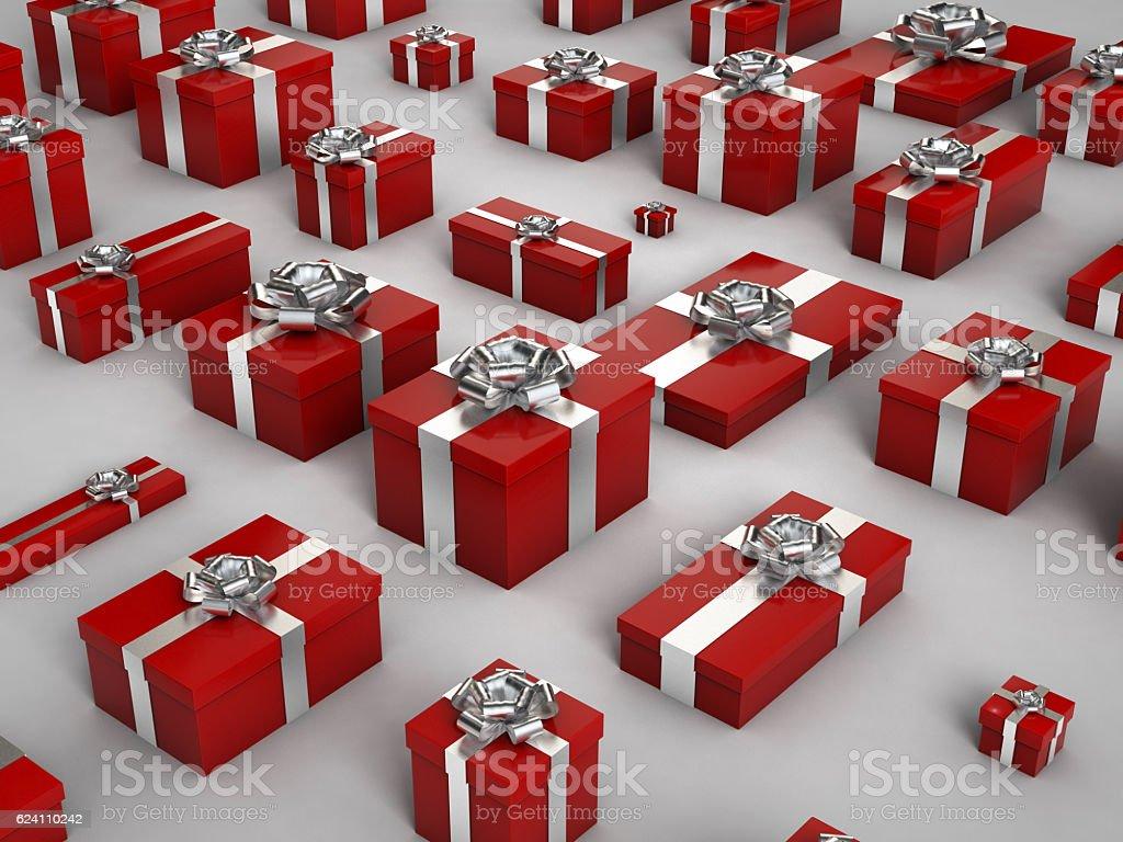 red Christmas Gif Box stock photo