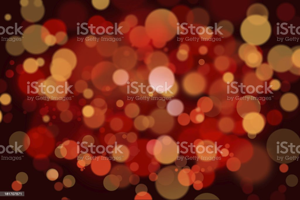 Red christmas lights royalty-free stock photo