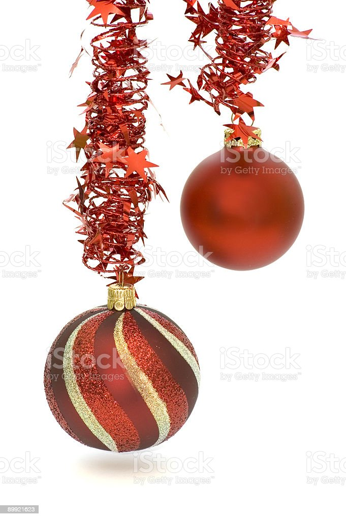Red Christmas Ornaments royalty-free stock photo