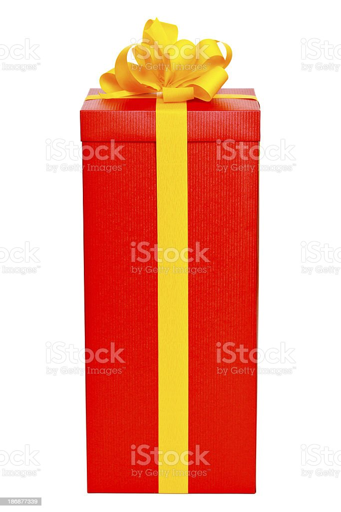 Red christmas present stock photo