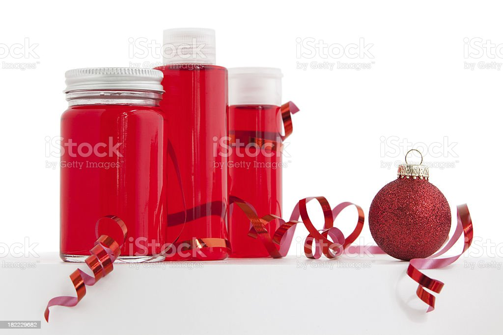 Red Christmas Products stock photo