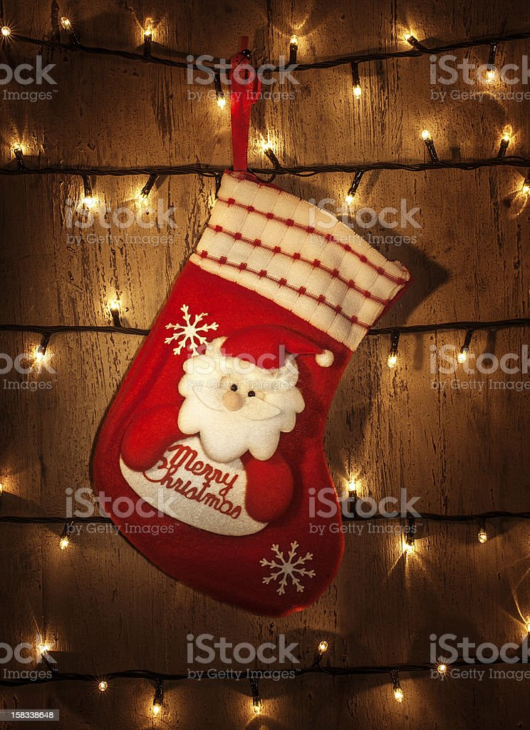 Red Christmas sock stock photo
