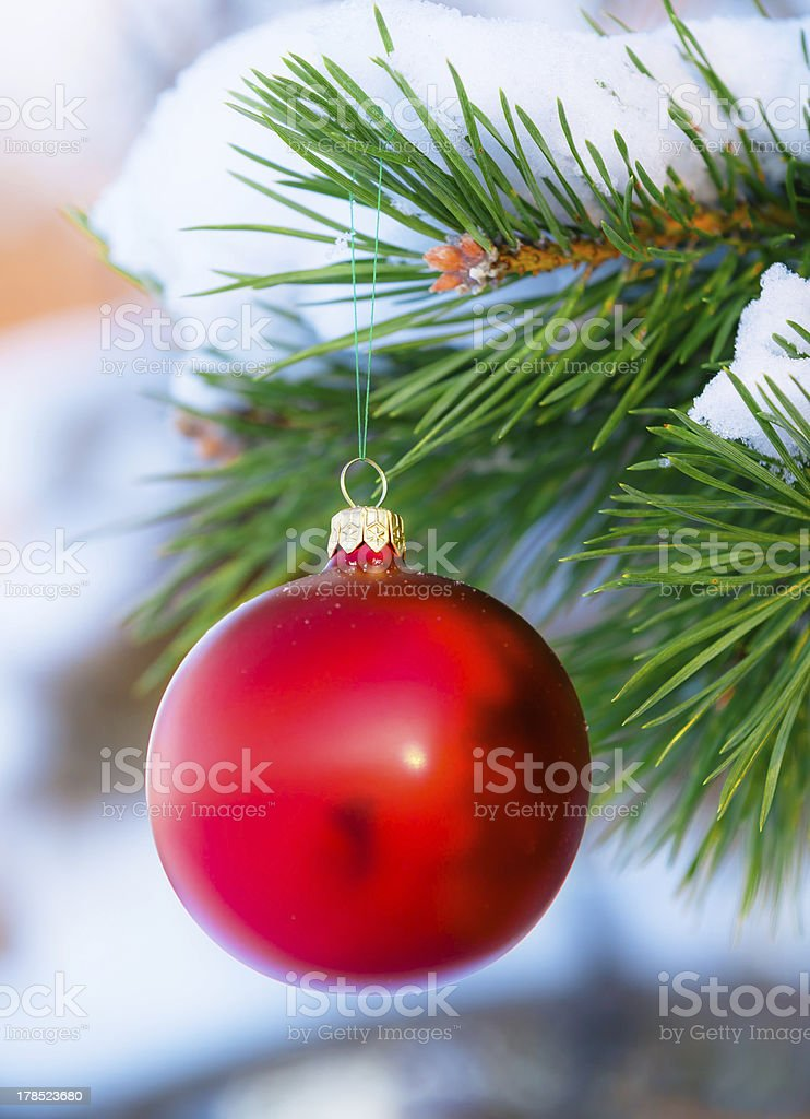 Red christmas toy royalty-free stock photo