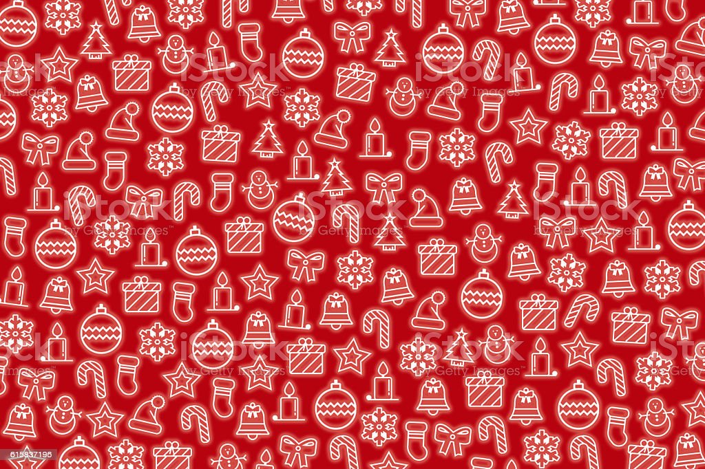 Red Christmas wallpaper with new year theme stock photo