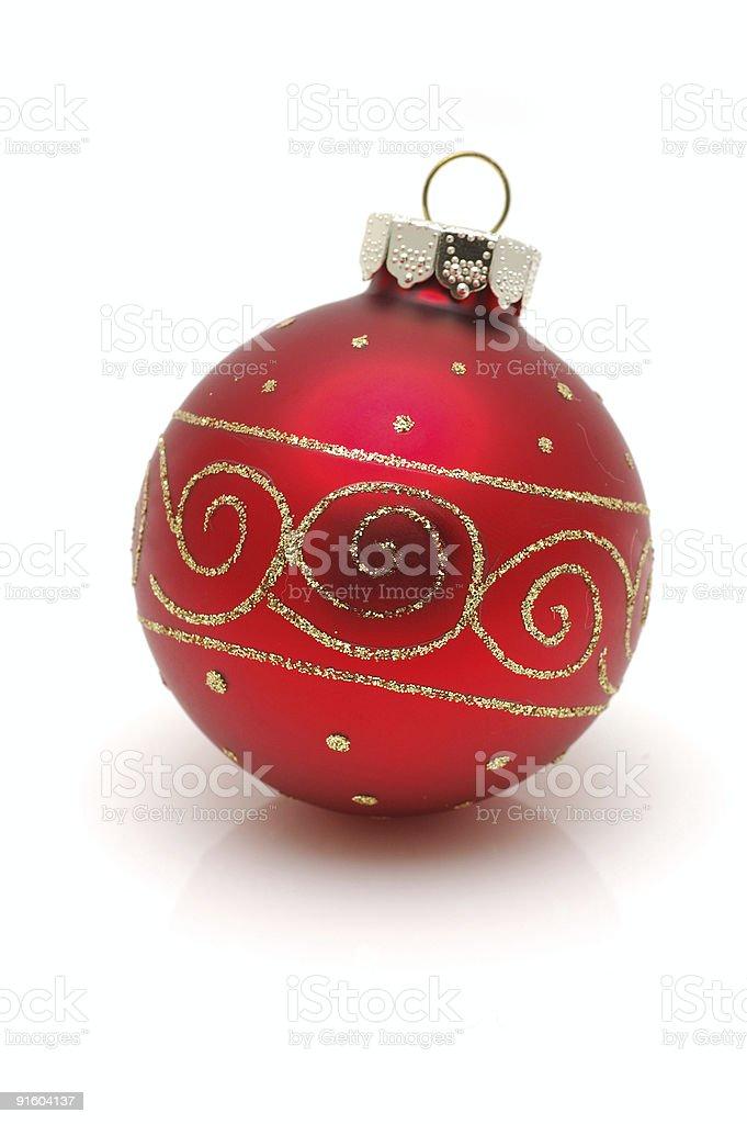 Red christrmas ball stock photo