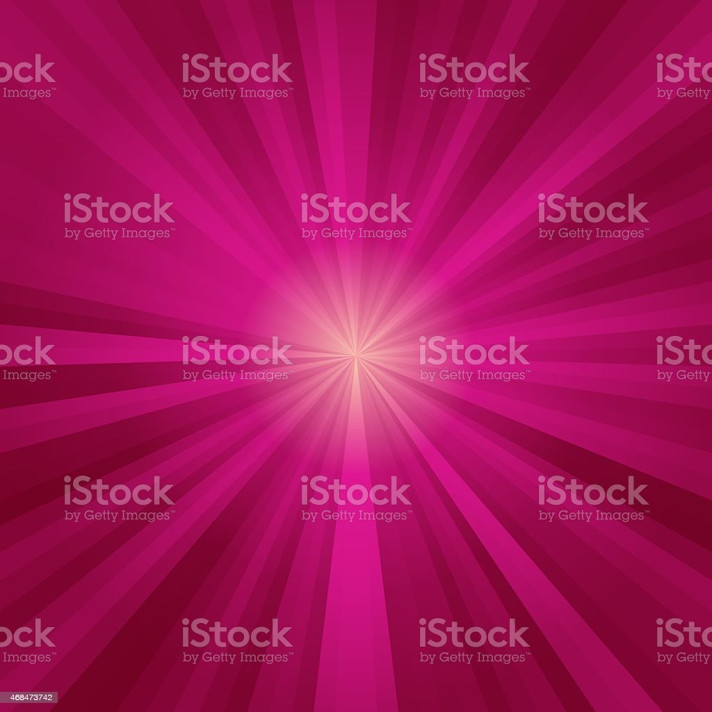 Red circle rays stock photo