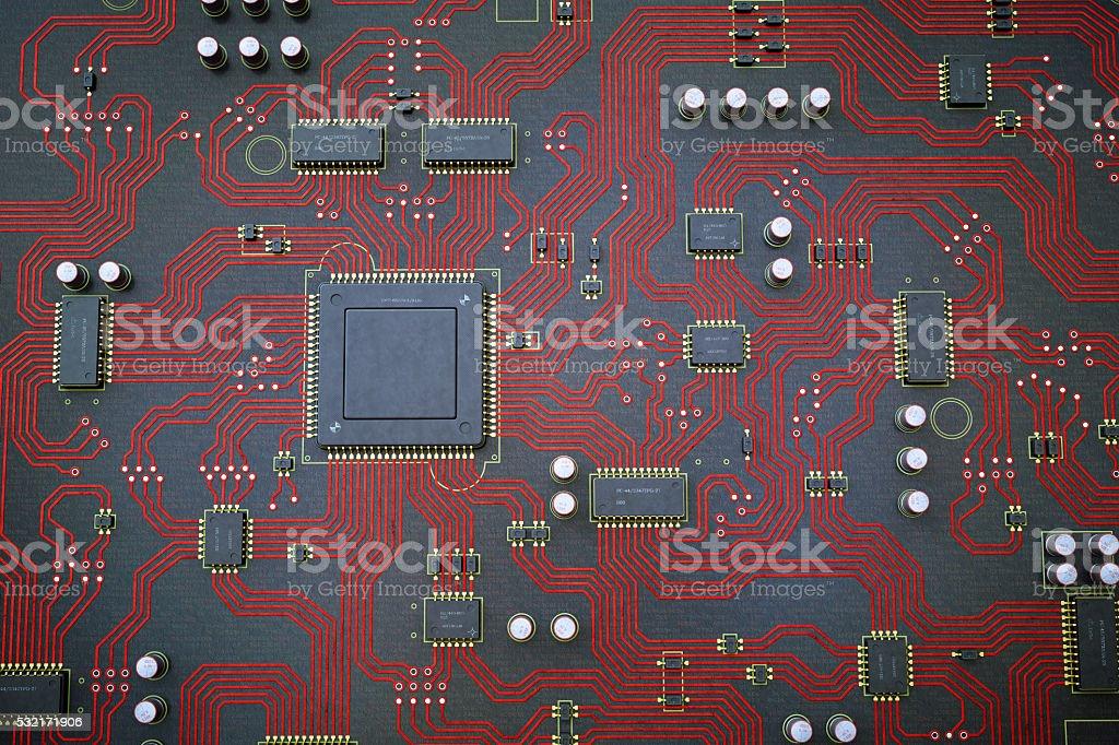 Red Circuit Board stock photo