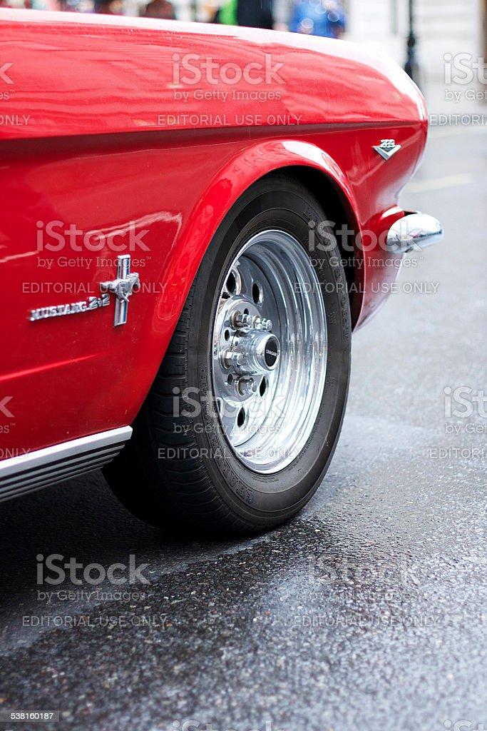 Rosso classico auto foto stock royalty-free