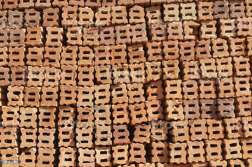 Red clay brick royalty-free stock photo
