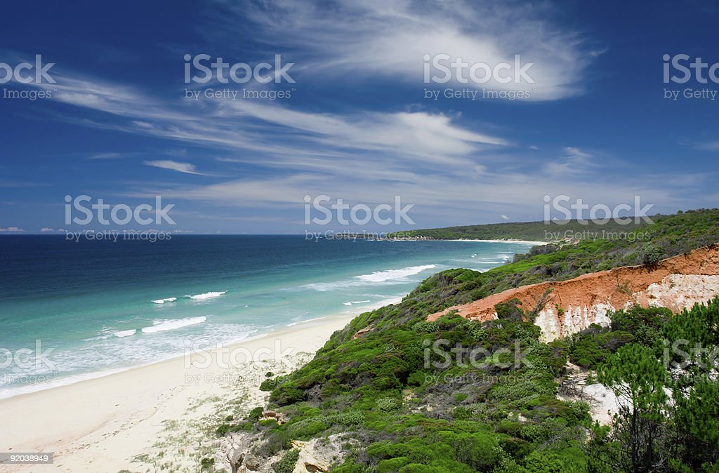 Red Cliff Beach royalty-free stock photo