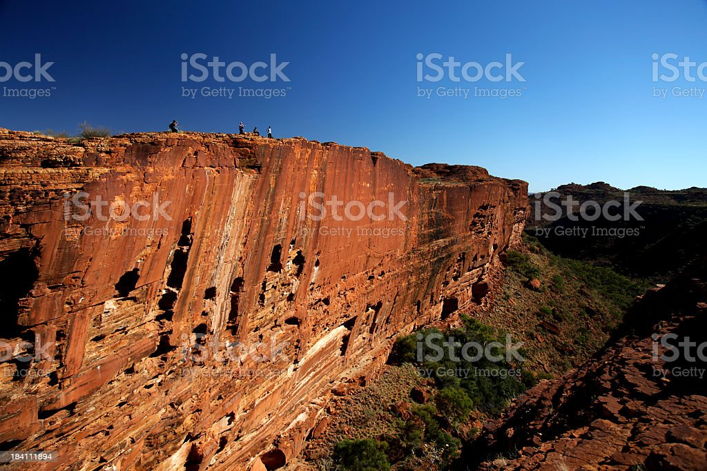 Red cliff face in Kings Canyon National park stock photo