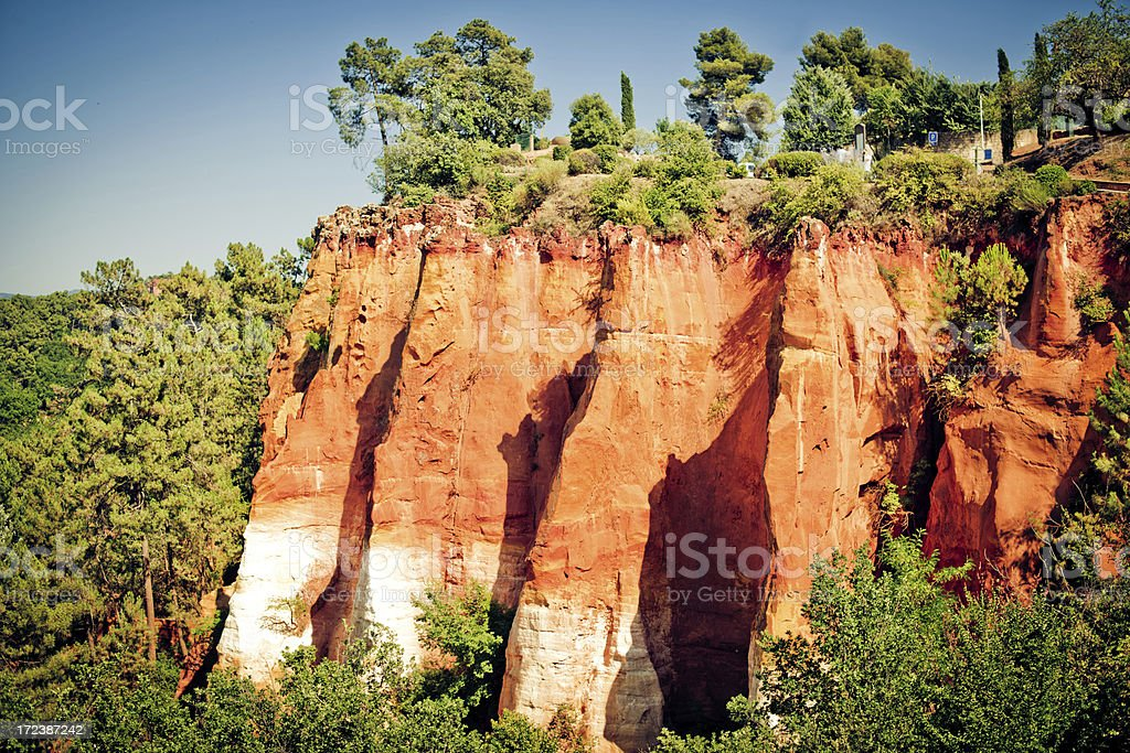 Red Cliffs of Roussillon royalty-free stock photo