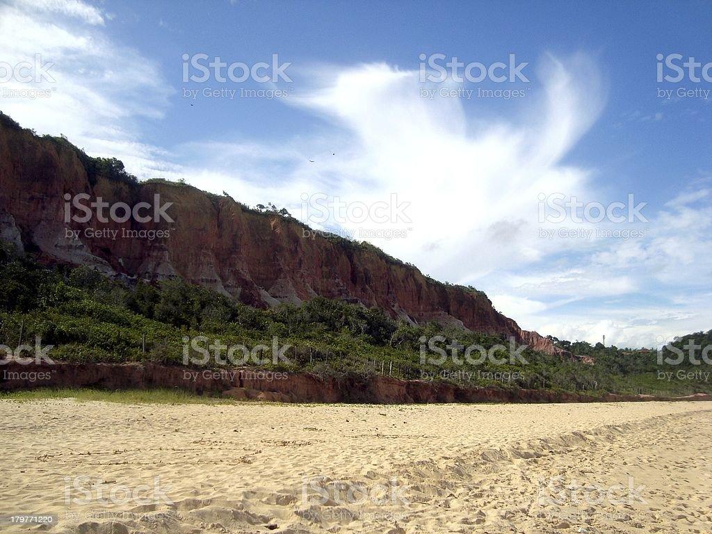 Red cliffs, Pitinga beach, Arrajal D'ajuda - Bahia Brazil stock photo