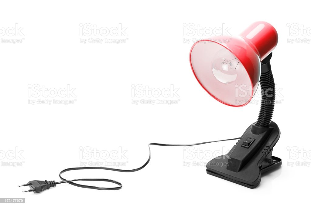 red clip table lamp royalty-free stock photo