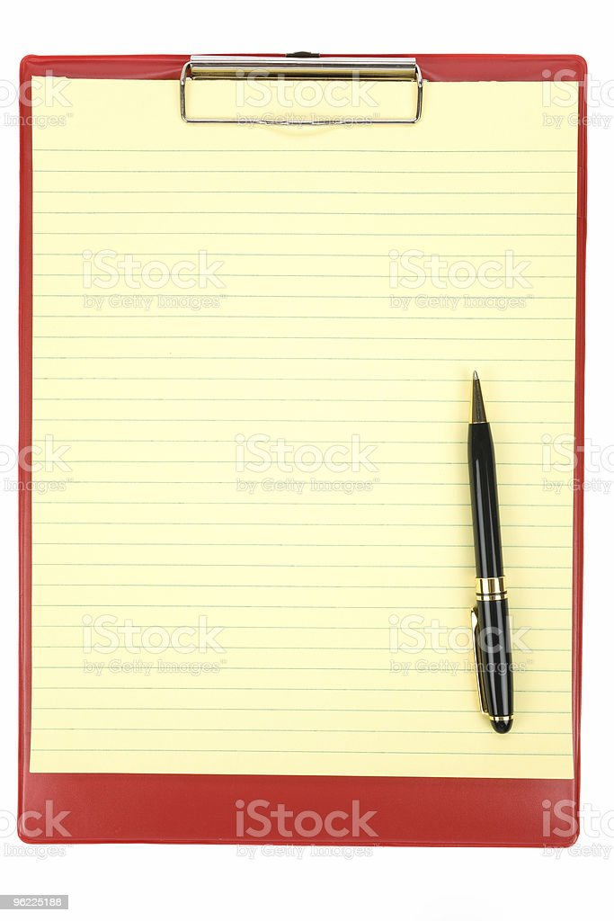 Red Clipboard royalty-free stock photo