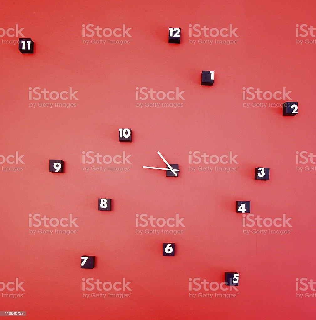 Rojo 24 horas. foto de stock libre de derechos