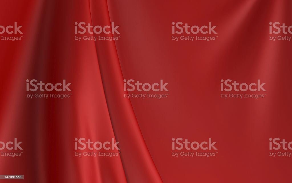 A red cloth curtain background stock photo