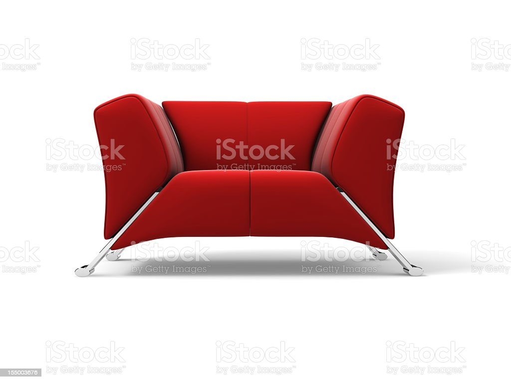 Red cloth soft with metal corners stock photo