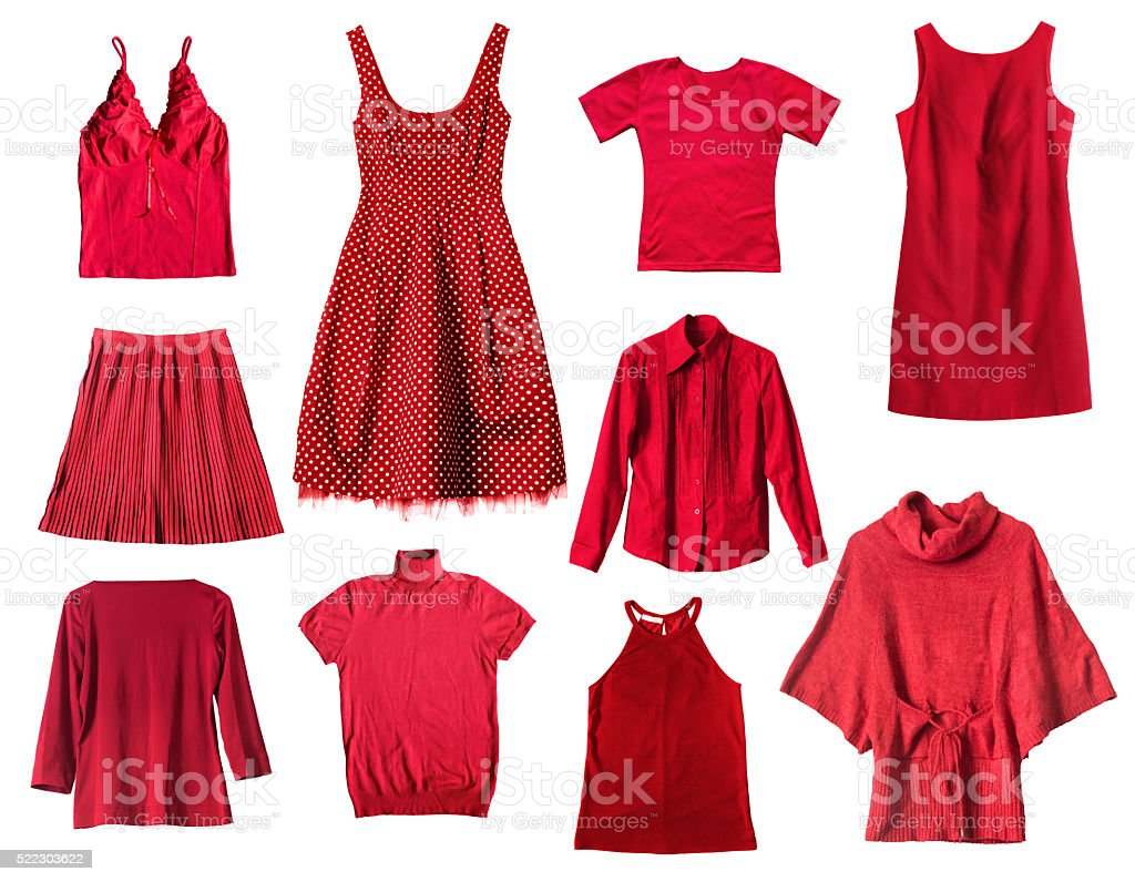 Red clothes stock photo